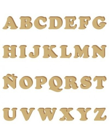 Wood Shape Alphabet 003 Cooper uppercase
