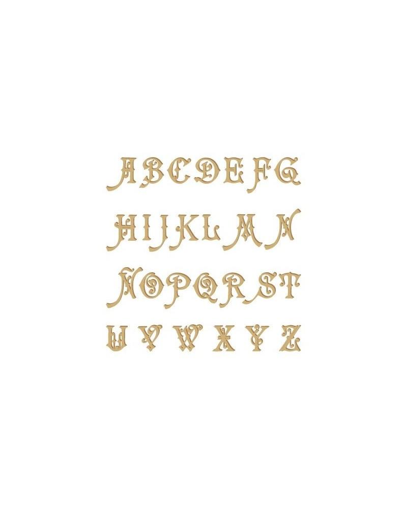 Silhouette Alphabet 004 Carmencita Uppercase 30mm