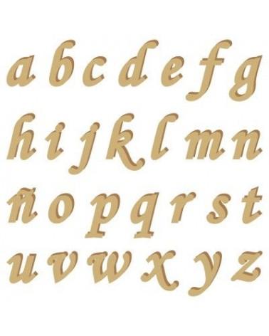 Silhouette Alphabet 006 Monotype Kleinbuchstabe 20mm