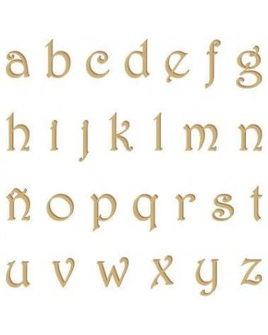 Alphabet Silhouette 007 Harrington Lowercase 20mm
