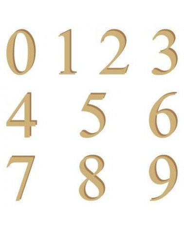 Wood Shape Numbers 001 Times