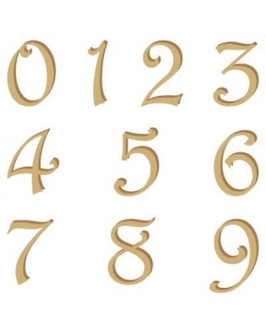 Alphabet Silhouette Numbers 002 Harrington 15mm