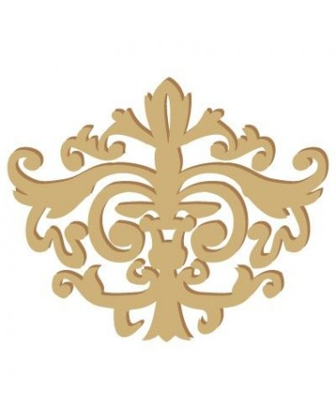 Wood Shape Damask 001