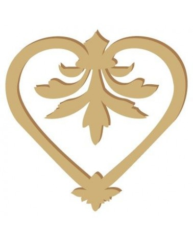 Wood Shape 008 Heart