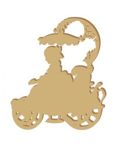 Silueta Figura 030 Niña carrito