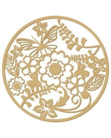 Silueta Floral 001 Roseton flores