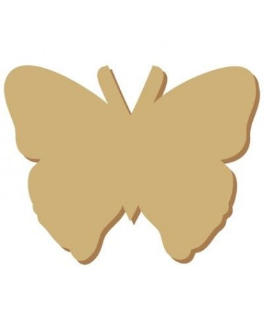 Wood Shape Mini 002 Butterfly