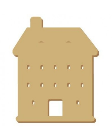 Wood Shape Mini 072 House
