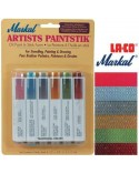 <h2>Markal Paintstik Paint Pro 50ml Set Tradicional 6 Colores</h2> <p>Ideal for stenciling, drawing, sketching, painting, creating murals and trompe l'oeil. P&gt;</p> <p>Great on different materials such as canvas, cloth, wood, metal, walls, glass, plastic, glass and ceramics</p>