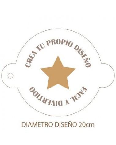 Stencil Personalizado 005 Ø23cm Tartas
