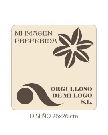 Stencil mit deinem Bild 005 30x30cm