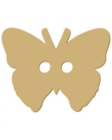 Wood Shape Button 010 Butterfly