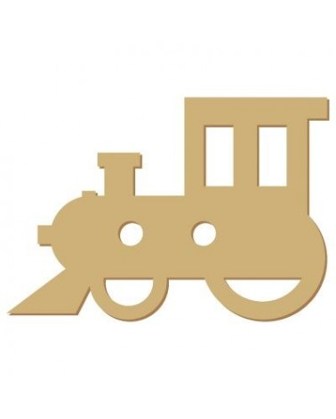 Wood Shape Button 012 Train