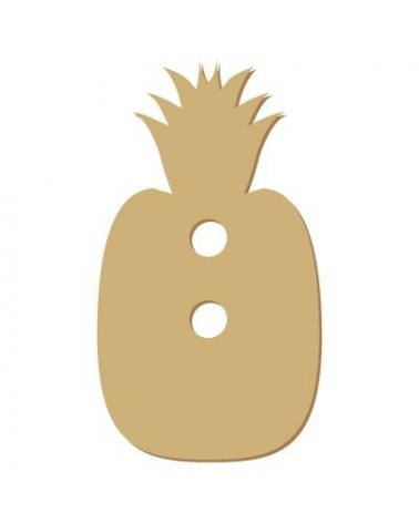 Wood Shape Button 018 Pineapple