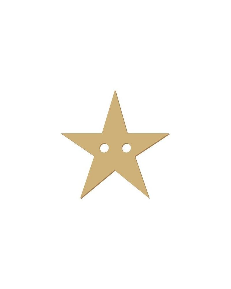 Wood Shape Button 021 Star