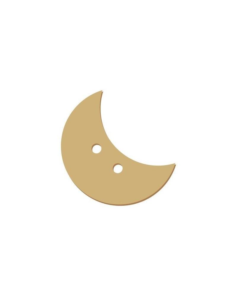 Silhouette Knopf 022 Mond
