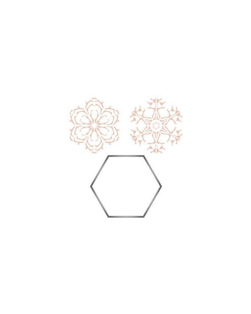 Stainless Steel Cutter 005 Hexagon + 2 Stencils