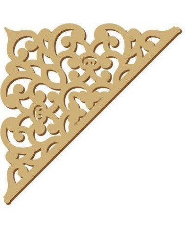 Wood Shape Damask 016