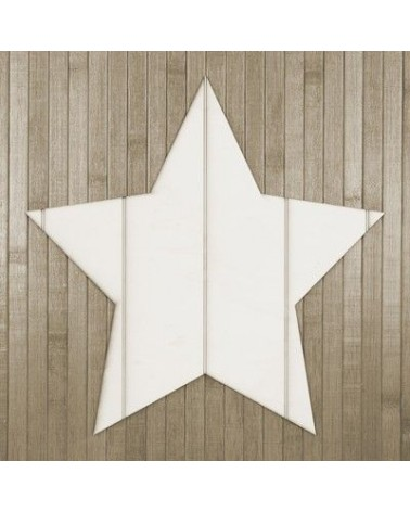Wood Board 012 Striped Star