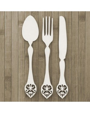 Wood Board 016 Cutlery Set 3pcs