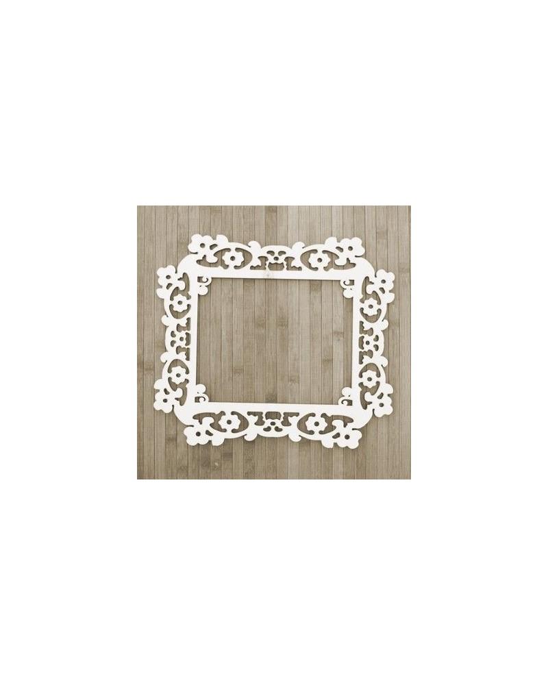 Wood Board 021 Frame Flowers