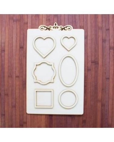 Wood Board 023 Photo Frame
