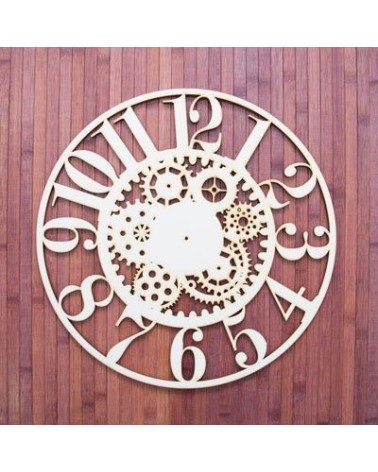Wood Board 028 30 Clock Gears 30x30cm