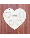 <h2>Wood Board 029-40 Photo Frame Heart 40x40cm</h2> <p>Approximate Size (width x height):</p> <ul> <li>40 x 40 cm</li> </ul> <p>Choice between wood and cardboard</p>