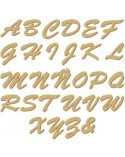 Wood Shape Alphabet 008 Enlazada Adhesiva capital