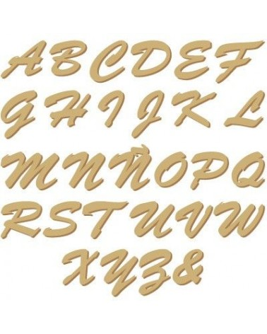 Silueta Alphabet 008 Tied Adhesive capital letter 20mm (0,7 in)