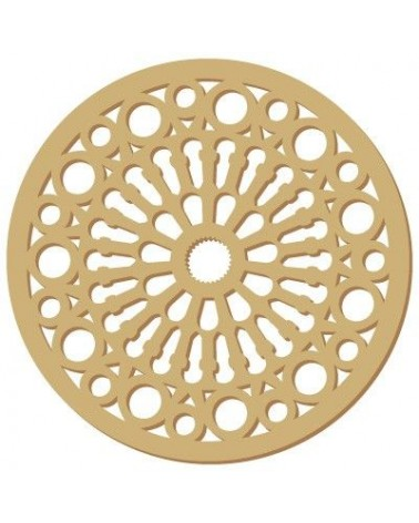 Wood Shape Damask 028 Rosette