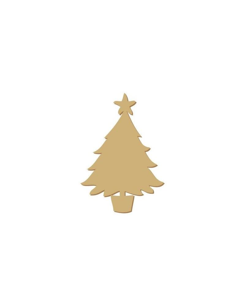 Wood Shape Festivities 001 Tree with Star