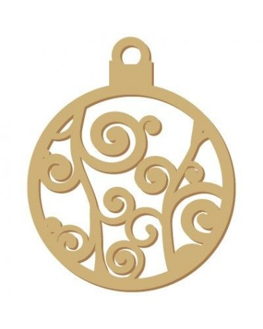 Wood Shape Festivities 019 Christmas Tree Ornament