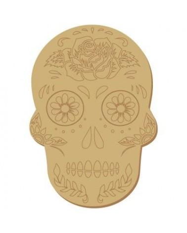 Wood Shape 110 Mexican skull