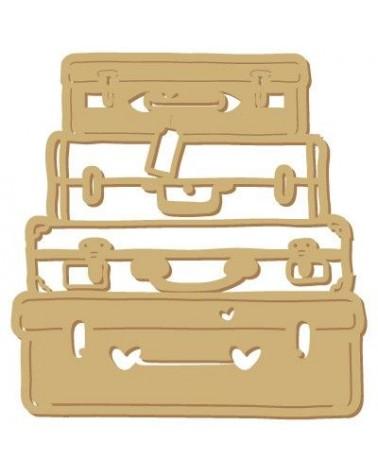Wood Shape 115 Suitcases