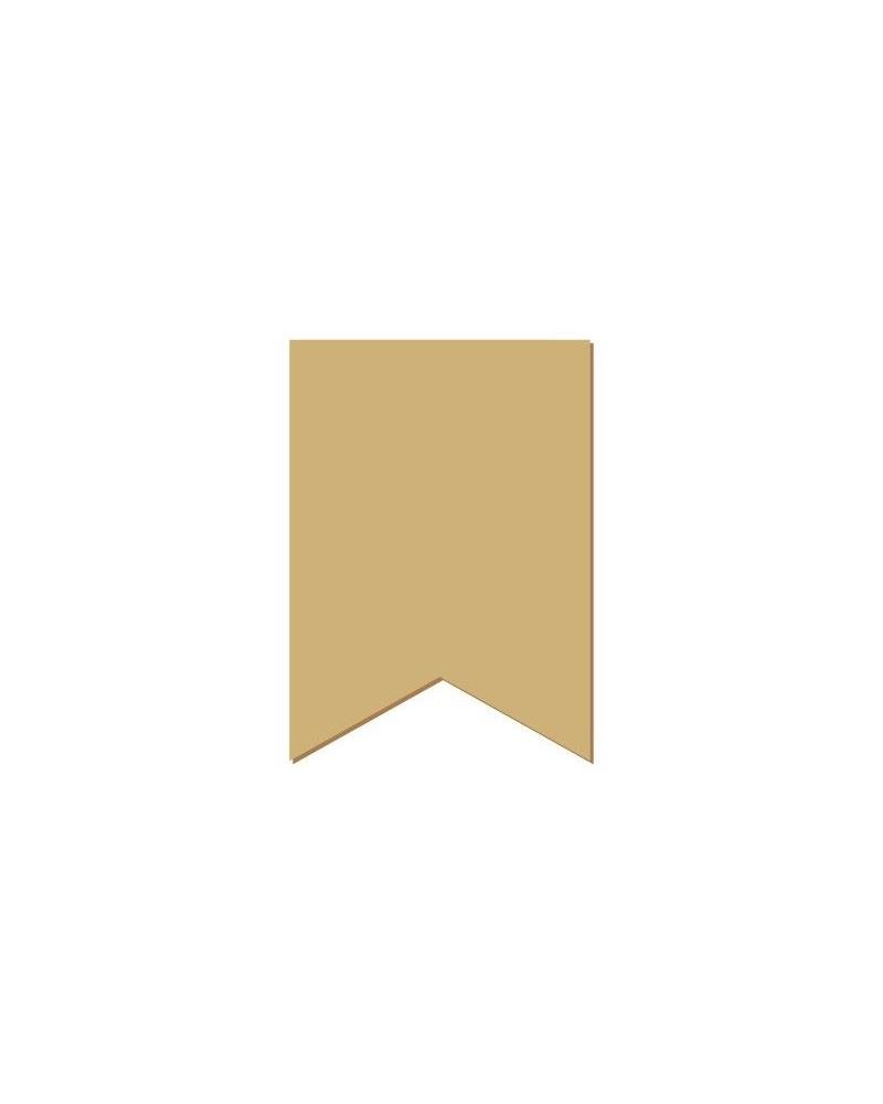 Wood Shape Mini 086 Rectangular Flag