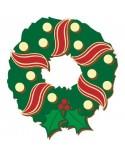 <h1>Wood Board 041 Christmas Crown with Ornaments </h1><p><ul><li>(S) 25 x 25 cm</li></ul></p>