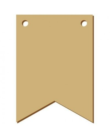 Wood Board 042 15 Rectangular Pennant