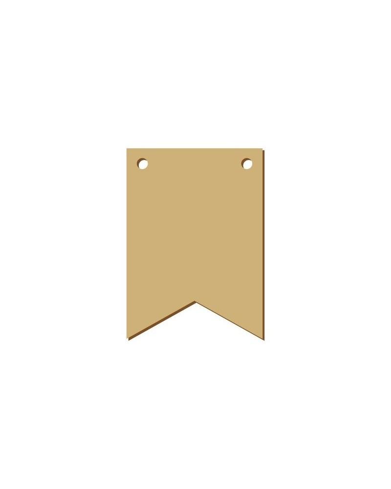 Wood Board 042 15 Rectangular Pennant