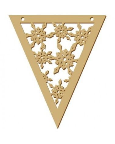 Wood Board 044 15 Flakes Pennant 11x15cm (4,3 x 5,9 in)