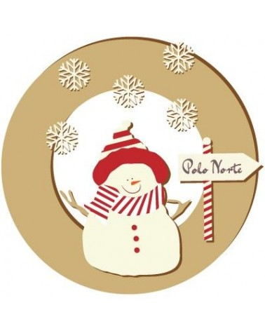 Wood Board 046 Snowman Crown 25cm (9,8 in)
