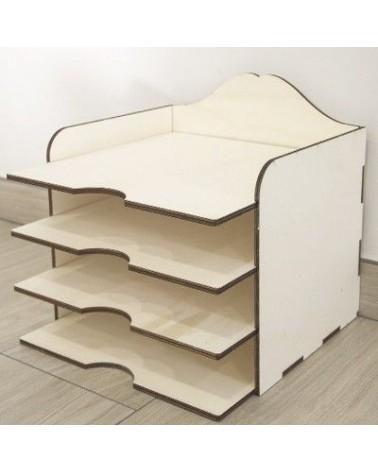3d Wood 005 Scrap Paper Box