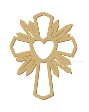 Wood Shape Festivities 021 Heart Cross