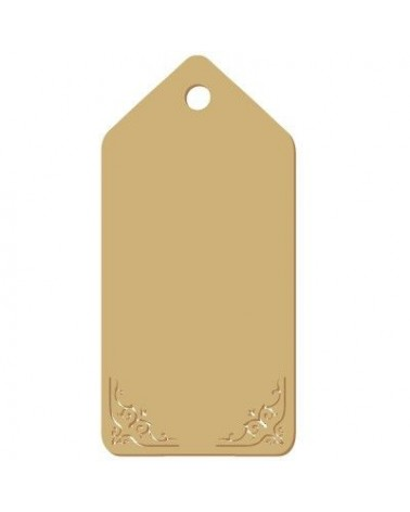 Wood Tag 014 Damask