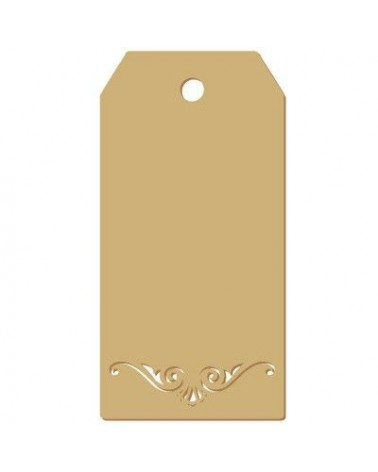 Wood Tag 015 Damask