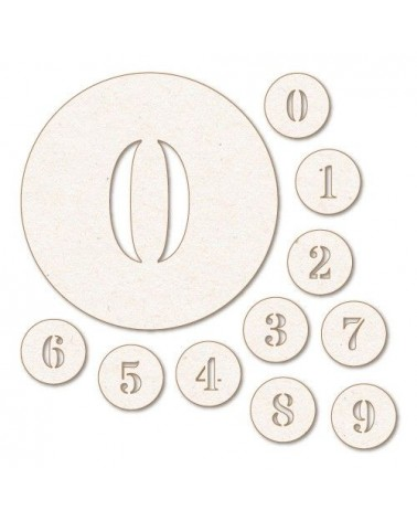 Wood Shape Numbers 004 Circles