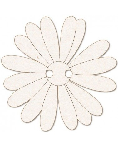 Wood Shape Button 024 Daisy