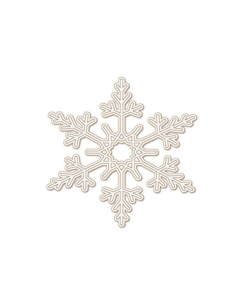 Wood Shape Festivities 029 Snowflake