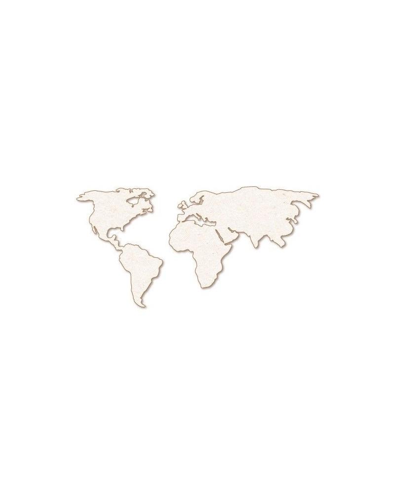 Silueta Figura 162 Mapa Mundi 2 pzas