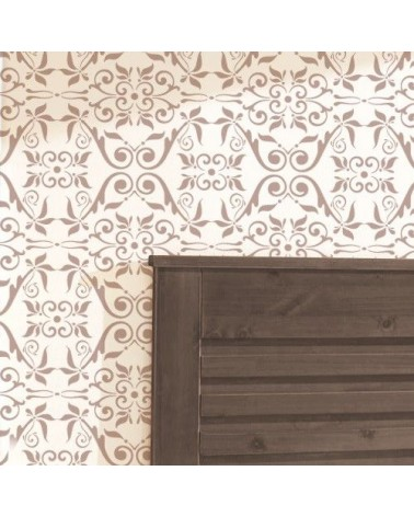 DIY Decor Wall Stencil Damask 006 Palmira